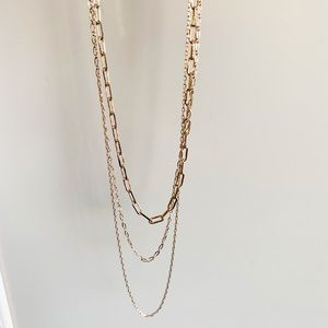 Jewelry - 3 layer gold tone necklace